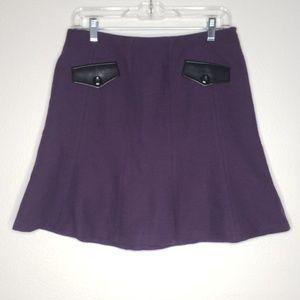Kensie Purple A Line Skater Skirt